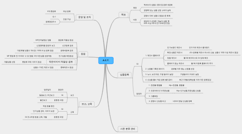 Mind Map: A.C.T.