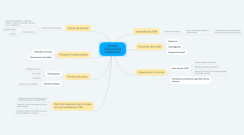 Mind Map: SISTEMA MODULAR DE ENSEÑANZA