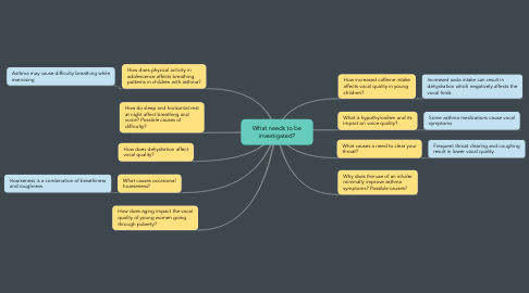 Mind Map: What needs to be investigated?