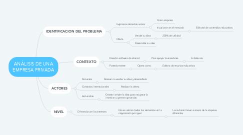 Mind Map: ANÁLISIS DE UNA EMPRESA PRIVADA