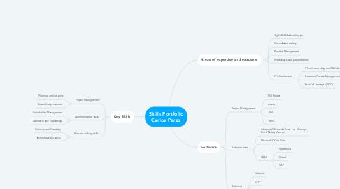 Mind Map: Skills Portfolio Carlos Perez