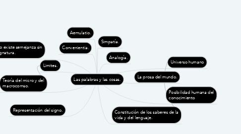 Mind Map: Las palabras y las cosas.