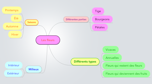 Mind Map: Les fleurs