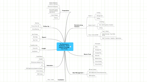 Mind Map: The Brainstorm Facilitator. Client Ideation Strategy Case Study