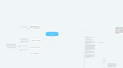 Mind Map: SEGURIDAD Y DEFENSA NACIONAL