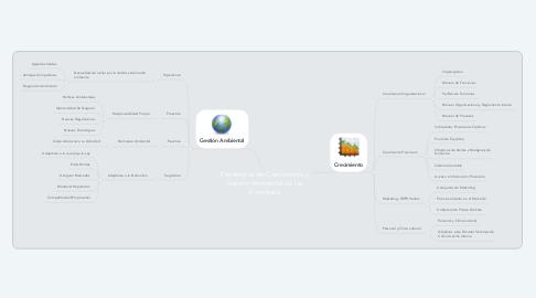 Mind Map: Estrategias de Crecimiento y Gestión Ambiental de las Empresas