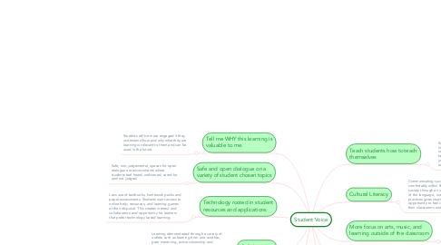 Mind Map: Student Voice