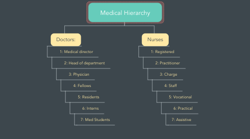 Mind Map: Medical Hierarchy
