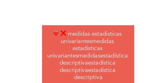 Mind Map: medidas estadísticas  univariantesmedidas  estadísticas  univariantesmedidasestadística  descriptivaestadística  descriptivaestadística  descriptiva