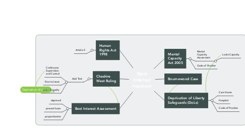 Mind Map: Best Interest Assessor