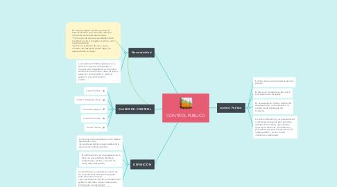 Mind Map: CONTROL PUBLICO