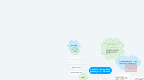 Mind Map: Fases del proceso de la  investigación cualitativa