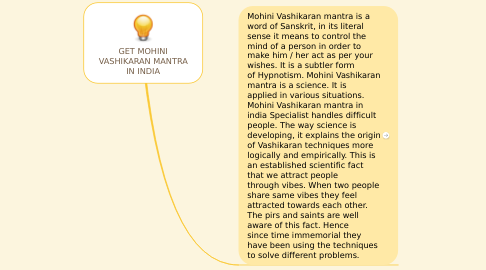 Mind Map: GET MOHINI VASHIKARAN MANTRA IN INDIA