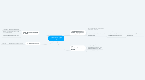 Mind Map: The Narcotic Farm in Lexington, KY