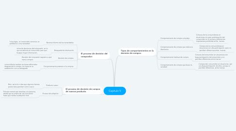 Mind Map: Capitulo 5