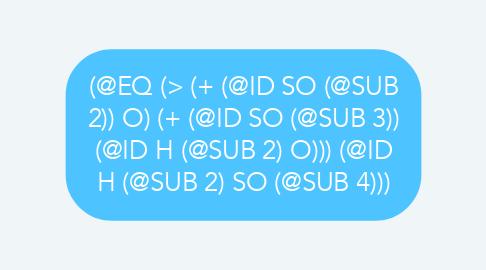 Mind Map: (@EQ (> (+ (@ID SO (@SUB 2)) O) (+ (@ID SO (@SUB 3)) (@ID H (@SUB 2) O))) (@ID H (@SUB 2) SO (@SUB 4)))
