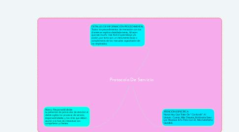 Mind Map: Protocolo De Servicio