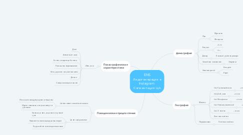 Mind Map: ENS Лидогенерация в Instagram  Сегментация ЦА