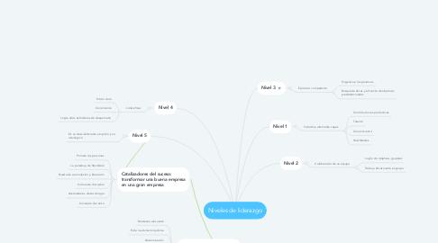 Mind Map: Niveles de liderazgo