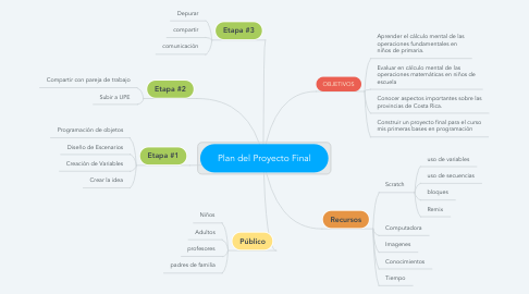 Mind Map: Plan del Proyecto Final