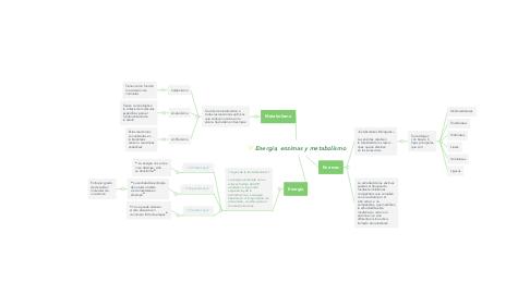 Mind Map: Energía, enzimas y metabolismo