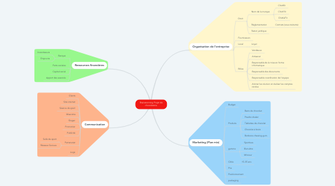 Mind Map: Brainstorming Projet de chocolaterie