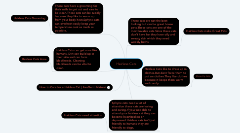 Mind Map: Hairless Cats