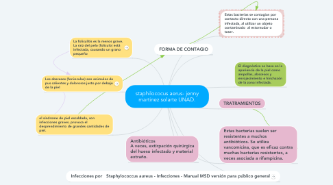 Mind Map: staphilococus aerus- jenny martinez solarte UNAD.
