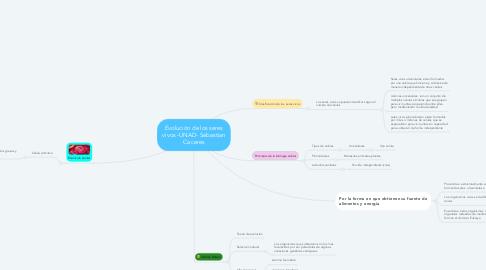 Mind Map: Evolución de los seres vivos -UNAD- Sebastian Caceres