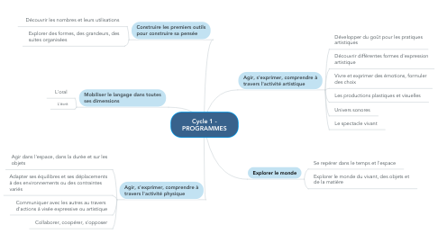 Mind Map: Cycle 1 - PROGRAMMES