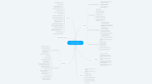 Mind Map: Lineamientos básicos de una investigación estadística