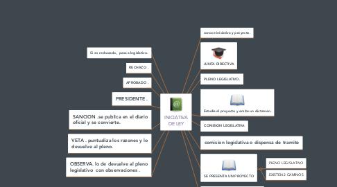 Mind Map: INICIATIVA DE LEY