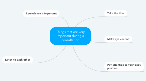 Mind Map: Things that are very important during a consultation