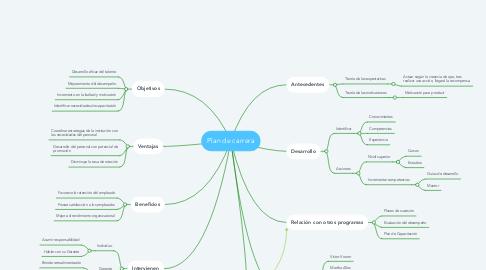 Mind Map: Plan de carrera