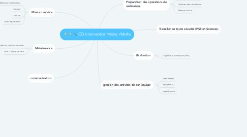 Mind Map: CO-intervention Melec /Maths