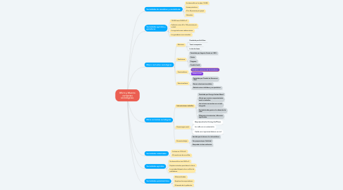 Mind Map: Micro y Macros corrientes sociológicas.