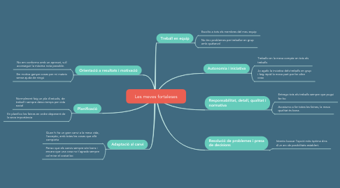 Mind Map: Les meves fortaleses