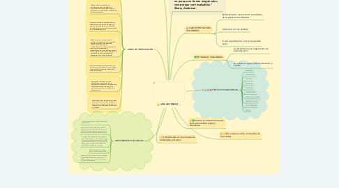 Mind Map: VOLUNTARIO