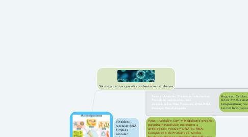 Mind Map: MICRORGANISMOS