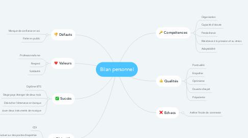 Mind Map: Bilan personnel