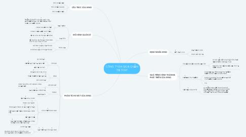 Mind Map: CÔNG TY ĐA QG & QUẢN TRỊ TCQT
