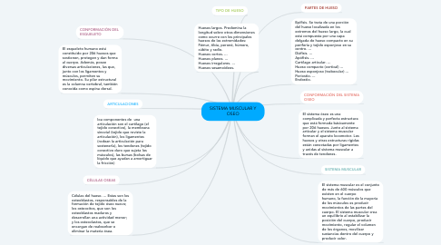 Mind Map: SISTEMA MUSCULAR Y OSEO