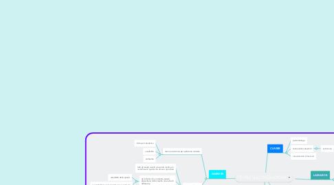 Mind Map: TEORIE SULL'EVOLUZIONE