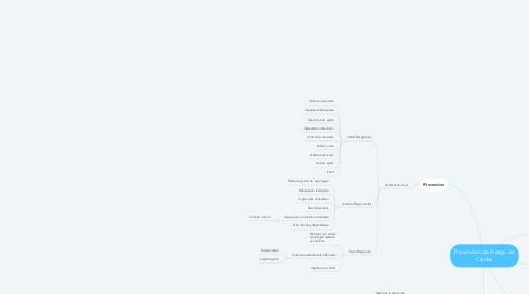Mind Map: Prevencion de Riesgo de Caidas