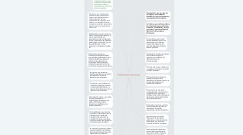 Mind Map: Elementos de información