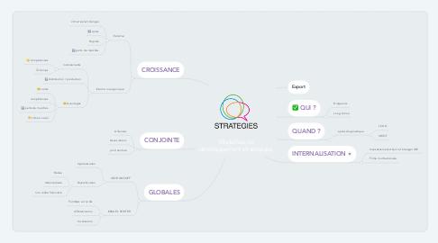 Mind Map: Modalités de développement stratégique