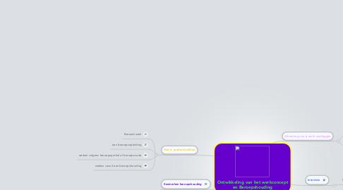 Mind Map: Ontwikkeling van het werkconcept en Beroepshouding