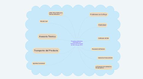 Mind Map: Principales problemáticas observadas en la Asociación de Productores de Café Chichupac-APCC