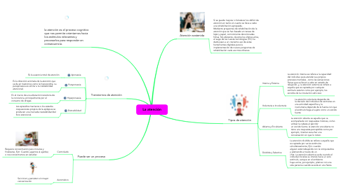 Mind Map: La atención