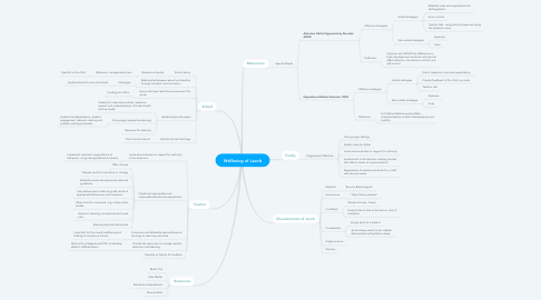 Mind Map: Wellbeing of Jacob